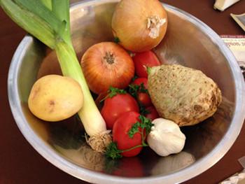 ヒポクラテススープの材料