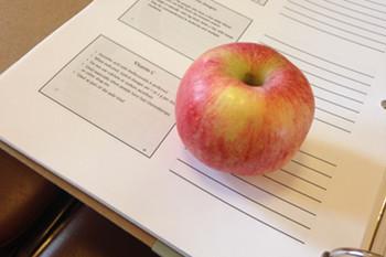 おやつのリンゴ